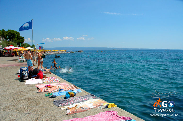 Bacvice Split beach seaside Croatia blue flag