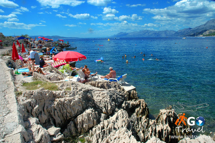 rocky beach makarska summer