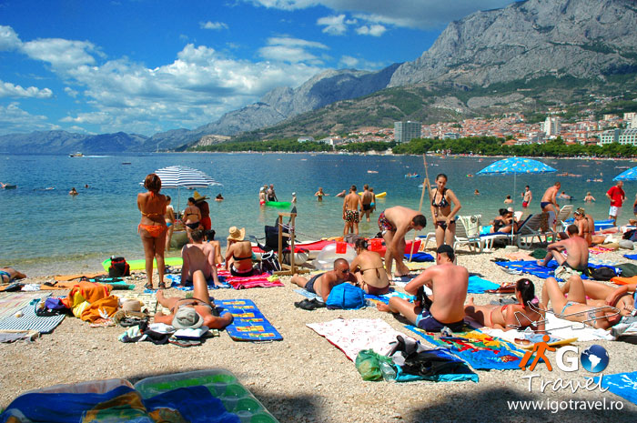 sunbathing on holiday makarska beach